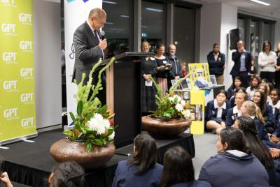 GPT CEO Bob Johnston at the Girls in Property Awards Night