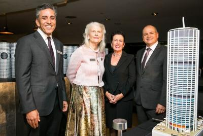 GPT CEO Bob Johnston with (from left) Dexus Executive General Manager Kevin George, Penelope Seidler, Sydney Lord Mayor Clover Moore